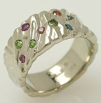 Wave Colored Diamond Ring