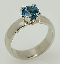 Topaz jewelry in a 14 kt white gold ring.