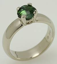 Green tourmaline and 14k gold ring.