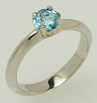 Zircon and white gold promise ring.